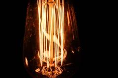 Configurações dos bulbos de Edison Equipamento da eletricidade fotografia de stock