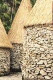 Configuración africana de las chozas Foto de archivo libre de regalías