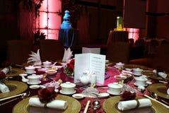 Configuración china de la boda Fotografía de archivo libre de regalías