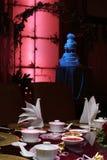 Configuración china de la boda Fotos de archivo libres de regalías