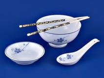 Configuración china de la cena Imagen de archivo libre de regalías