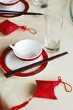 Configuración china del vector de banquete de la boda Foto de archivo libre de regalías