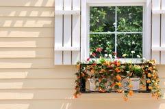 Configuración coloreada y ventana Foto de archivo libre de regalías