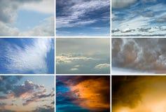 Configuración de Cloudscape Foto de archivo