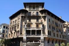 Configuración de Coppedè en Roma Foto de archivo libre de regalías