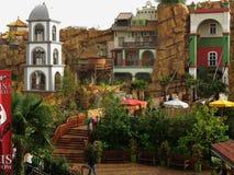 Configuración de estilo del mexicano de las impresiones del parque temático Fotos de archivo