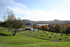 Configuración de la boda del otoño Fotos de archivo libres de regalías