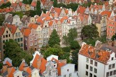 Configuración de la ciudad vieja en Gdansk Fotos de archivo libres de regalías