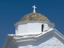 Configuración de la iglesia griega Foto de archivo libre de regalías