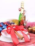 Configuración de la Navidad o del Año Nuevo Fotografía de archivo