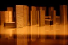 Configuración de las grapas, ciudad imagen de archivo libre de regalías