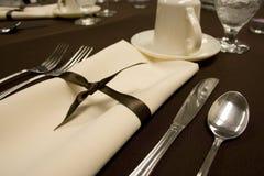Configuración de lugar de cena formal Fotografía de archivo libre de regalías