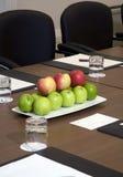 Configuración de lugar de la sala de reunión Fotografía de archivo libre de regalías
