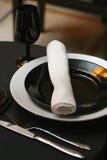 Configuración de lugar del restaurante Imagen de archivo libre de regalías