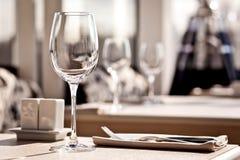 Configuración de lugar fina del vector de cena del restaurante Imagen de archivo libre de regalías