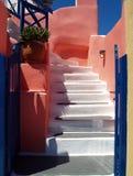 Configuración de Santorini imagen de archivo