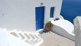 Configuración de Santorini Fotografía de archivo libre de regalías