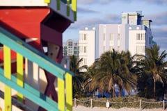 Configuración del art déco de Miami Beach Imágenes de archivo libres de regalías