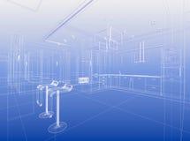 Configuración del azul de Wirewrame Imagen de archivo