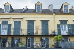 Configuración del barrio francés Fotos de archivo libres de regalías