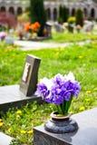 Configuración del cementerio - Europa Foto de archivo