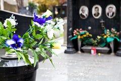 Configuración del cementerio - Europa Foto de archivo libre de regalías