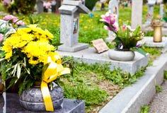 Configuración del cementerio - Europa Fotografía de archivo libre de regalías