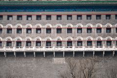 Configuración del chino tradicional La torre del tiro al arco de Pekín fotos de archivo libres de regalías