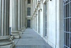 Configuración del edificio de sistema judicial Fotos de archivo