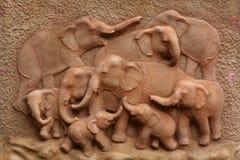Configuración del elefante foto de archivo libre de regalías