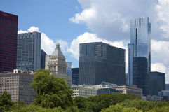 Configuración del horizonte de Chicago imagen de archivo libre de regalías