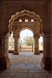 Configuración del palacio de Orchha, la India. imágenes de archivo libres de regalías