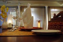 Configuración del restaurante Fotos de archivo