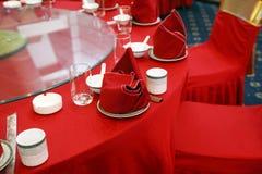 Configuración del vector de banquete de la boda Imagen de archivo