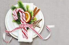 Configuración del vector de la Navidad Decoraciones del día de fiesta Foto de archivo