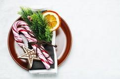 Configuración del vector de la Navidad Decoraciones del día de fiesta Foto de archivo libre de regalías