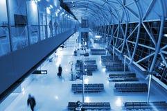 Configuración en el aeropuerto foto de archivo