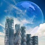 Configuración futurista global stock de ilustración