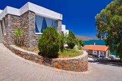 Configuración griega de Crete fotos de archivo libres de regalías