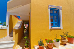 Configuración griega de la isla de Santorini Fotografía de archivo libre de regalías