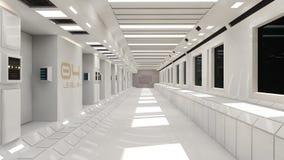 Configuración interior futurista Fotografía de archivo