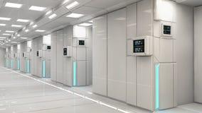 Configuración interior futurista Foto de archivo