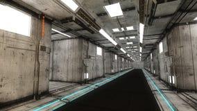 Configuración interior futurista Fotografía de archivo libre de regalías