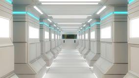 Configuración interior futurista Imagen de archivo libre de regalías