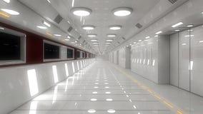 Configuración interior futurista Fotos de archivo libres de regalías