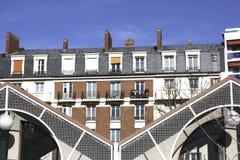 Configuración inusual París Fotos de archivo libres de regalías