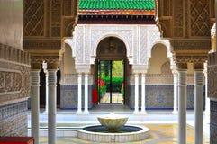 Configuración marroquí e islámica del pabellón Foto de archivo libre de regalías