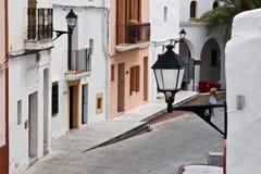 Configuración mediterránea, Ibiza, isla blanca Fotos de archivo libres de regalías