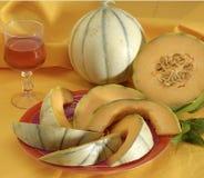 Configuración rebanada del melón Foto de archivo libre de regalías