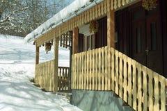 Configuración rumana de la casa de madera Fotos de archivo libres de regalías